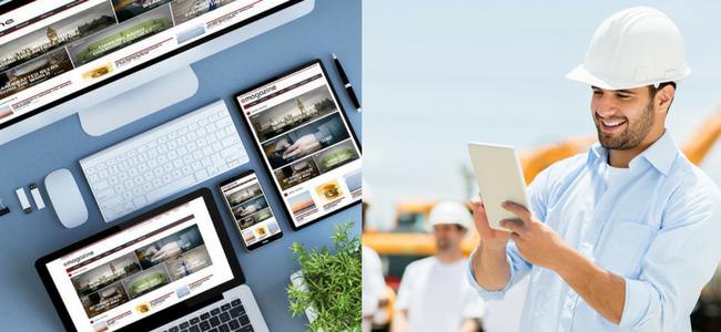 モバイルフレンドリーのWebサイトと建設業での利用イメージ